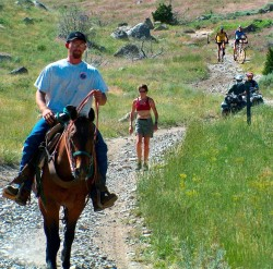 Mixed use trail horse bicycle ATV hiker credit NOHVCC