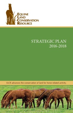 ELCR Strategic Plan Booklet Cover